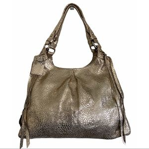 Coach Maggie Madison Crinkled Leather Hobo Bag